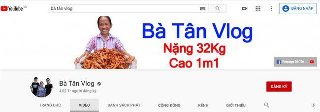 Lượt xem kênh Bà Tân Vlog bỗng dưng bị tụt thê thảm-2