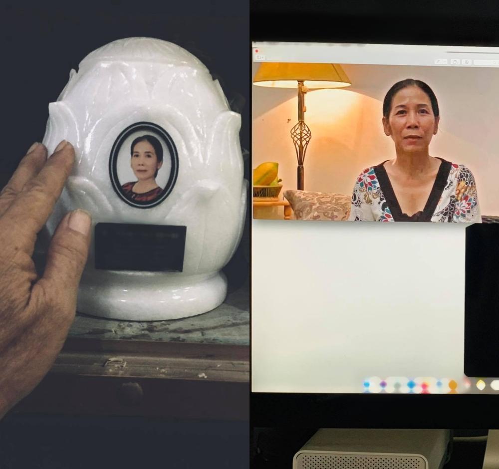 Kim Hiền khóc khi gọi video xem lễ đặt bài vị sau hơn 100 ngày mẹ mất-2