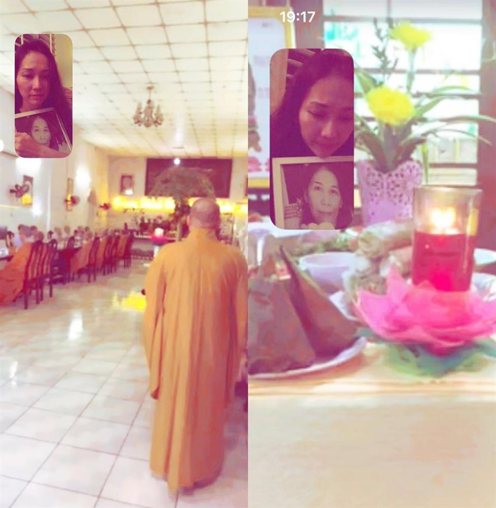 Kim Hiền khóc khi gọi video xem lễ đặt bài vị sau hơn 100 ngày mẹ mất-3