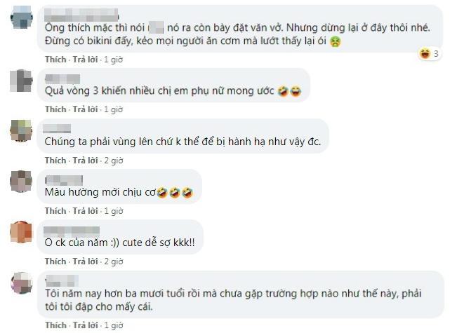 Đêm hôm khó ở, vợ bầu bắt chồng mặc quần hoa bèo nhún nhảy rồi chụp ảnh đăng Facebook mua vui-2