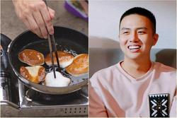 Duy Khánh tự nhận là 'thành viên ưu tú' của hội Ghét bếp, rán phồng tôm cháy đen như bánh xe