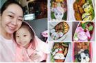 Mẹ đảm 8x với những hộp cơm bento 'siêu dễ thương' dành cho con gái đi học mỗi ngày