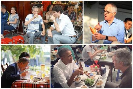 Khi các Nguyên thủ Thế giới cũng đam mê món ăn đường phố Việt Nam