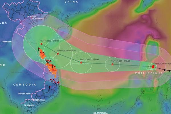 Bão Vamco đổ bộ Philippines, chuẩn bị vào Biển Đông-1