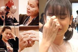 Hari Won, Trương Quỳnh Anh khóc như mưa khi xem Kim Lý cầu hôn Hà Hồ