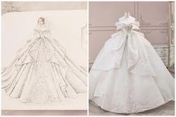 Hé lộ bản phác thảo váy cưới đẹp như mơ của bà xã 'streamer giàu nhất Việt Nam'