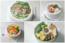 'Đã mắt' ngắm bánh kem độc lạ 'khoe' đặc sản Việt Nam, từ bún đậu đến phở đều có đủ