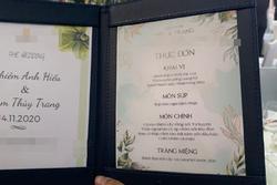 Lộ diện thực đơn đám cưới Xemesis - Xoài Non: Món nào cũng sang, đọc tên lóa cả mắt