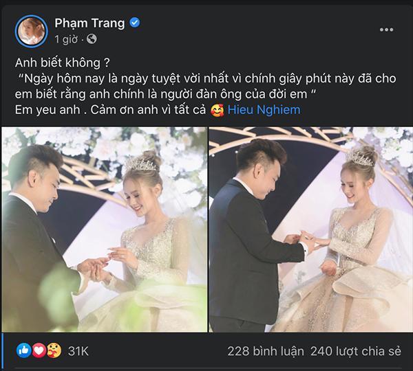 Xoài Non khoe liền 2 bức ảnh đẹp nhất khi diện váy cưới 28 tỷ trong hôn lễ với Xemesis-2