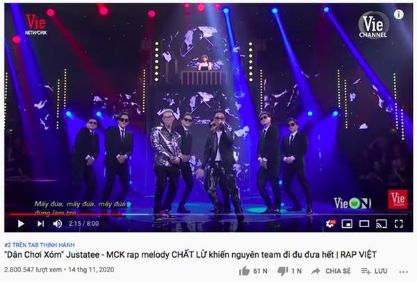 Vướng tranh cãi căng đét, sân khấu của MCK và Justatee leo thẳng Top 2 Trending YouTube-4