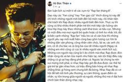 Rhymastic nói về 'Rap fan tháng 8': 'Cứ chửi và lên án, Rap Việt vẫn lớn mạnh'