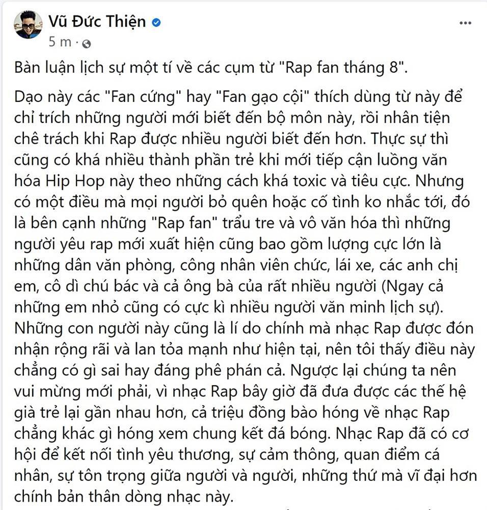 Rhymastic nói về Rap fan tháng 8: Cứ chửi và lên án, Rap Việt vẫn lớn mạnh-4