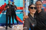 Tình tứ bên chồng, Tăng Thanh Hà vô tình để lộ body gầy guộc khiến fan lo lắng