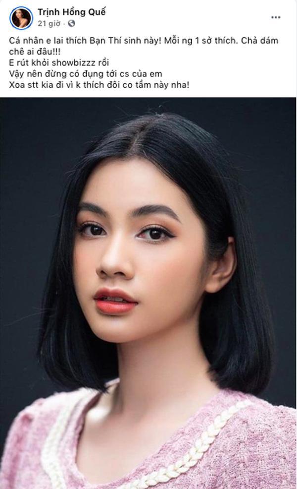 Hồng Quế chê bai Đỗ Thị Hà, công khai ủng hộ thí sinh chỉ lọt Top 15 Hoa hậu Việt Nam-3