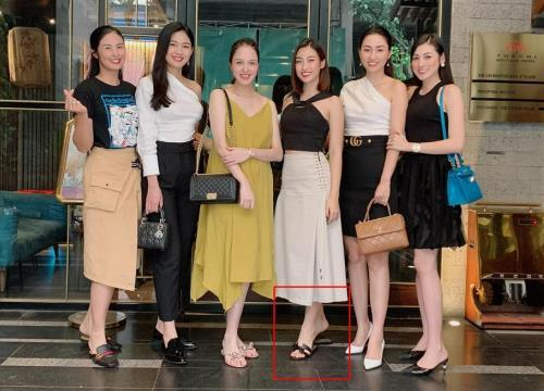 Ngọc Hân bị phát hiện tiểu xảo khi chụp hình cùng tân hoa hậu Đỗ Thị Hà-3