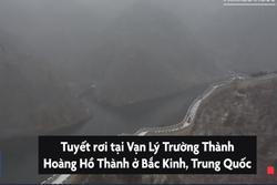 Tuyết bao phủ Vạn Lý Trường Thành ở Bắc Kinh