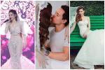 Tái xuất sau sinh: Hà Hồ diện váy cô dâu, Đàm Thu Trang mặc đầm trắng chặt chém không kém-10