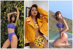 Pha đụng bikini cực gắt: Tóc Tiên, Salim khoe body 'bốc', Chi Pu kín nhất nhưng mix đồ thật cool