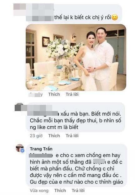 Trang Trần phang antifan vì dám... chê chồng chị xấu-2