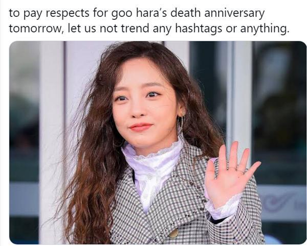 Fan nhắc nhau tưởng niệm 1 năm ngày mất Goo Hara-8