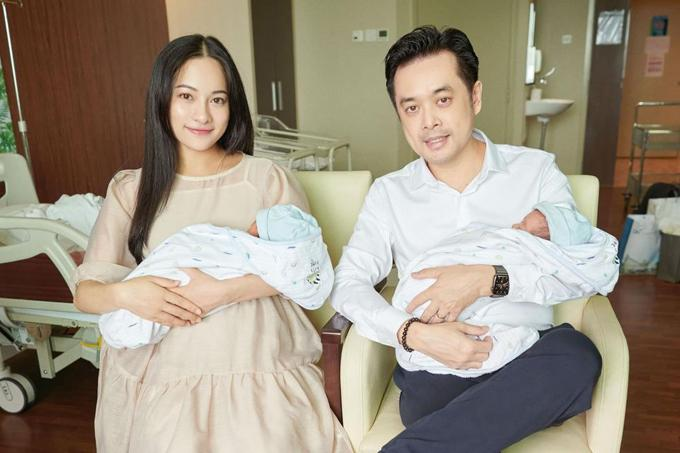 Nhan sắc 3 mỹ nhân Việt sinh đôi sau 1 tháng vượt cạn-5
