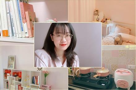 Căn phòng trọ màu hồng 'đủ sống, đủ ấm áp' của cô nàng 9X