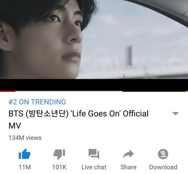 Chưa bao giờ fan BTS yêu Youtube đến thế khi nhìn số view Life Goes On 24 giờ đầu-3