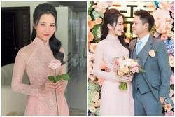 Primmy Trương là cô dâu diện áo dài ăn hỏi sắc hồng đẹp nhất từ trước đến nay