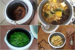 Một chiếc nồi cơm điện 'cân' cả chục món ăn, món nào cũng 'long trọng'