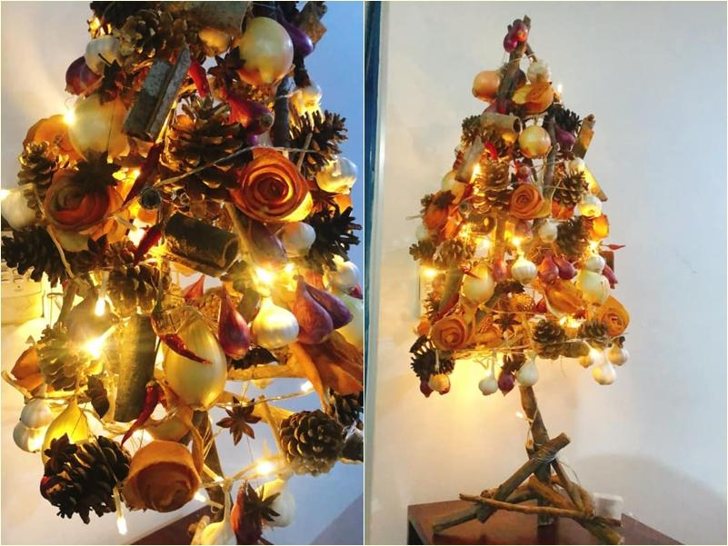 Mẹ 8X tự tay làm cây thông Noel hành tỏi, độ sáng tạo khiến hội chị em nể phục-5