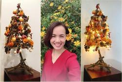 Mẹ 8X tự tay làm cây thông Noel 'hành tỏi', độ sáng tạo khiến hội chị em nể phục