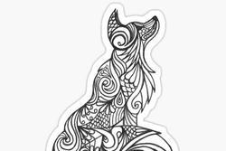 Bạn nhìn thấy con sói hay hoa văn? Câu trả lời phản ánh rõ nét sự sáng tạo của bạn