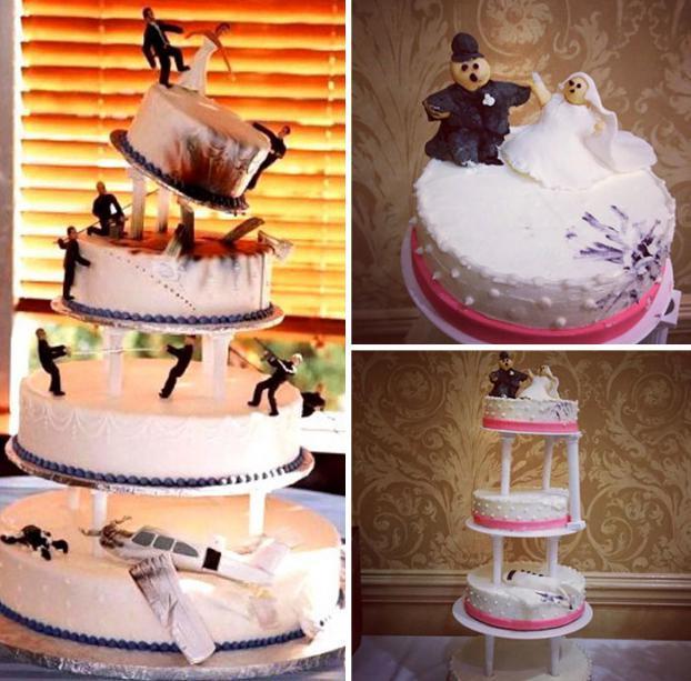 Những ý tưởng bánh cưới vượt xa sự kỳ vọng của chủ nhân, cô dâu chú rể đứng hình khi nhìn tác phẩm-3