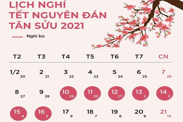 Nghỉ 7 ngày dịp Tết Nguyên đán Tân Sửu 2021-1
