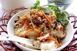 Thử món bánh đúc mặn ở Tiền Giang