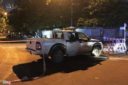 Cảnh sát phong tỏa nơi phát hiện thi thể người trong vali