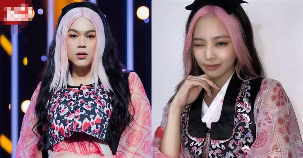 Hot Tiktoker Long Chun gây sốt với màn hóa trang Jennie BLACKPINK phiên bản nặng ký-5
