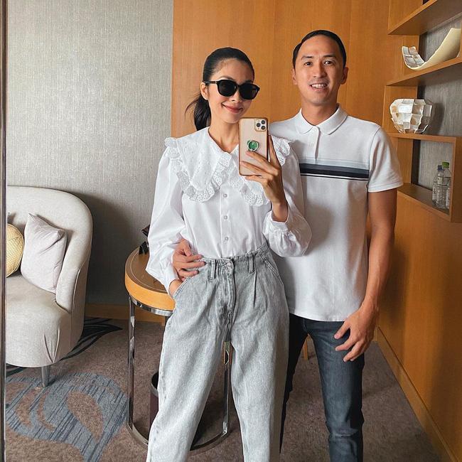 Sánh bước bên ông xã, Hà Tăng lên đồ xuất sắc bảo sao Louis Nguyễn nghiện vợ đến thế-1