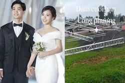 Hình ảnh đầu tiên đám cưới Công Phượng ở Nghệ An: Rạp siêu rộng, dựng trước gần 1 tuần