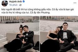 Huỳnh Anh công khai ảnh ôm ấp bạn gái MC VTV, viết hẳn status giới thiệu người ấy là ai