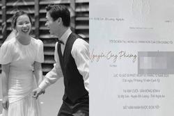 Hé lộ thiệp cưới của Công Phượng tại Nghệ An, địa điểm tổ chức hôn lễ rất đặc biệt
