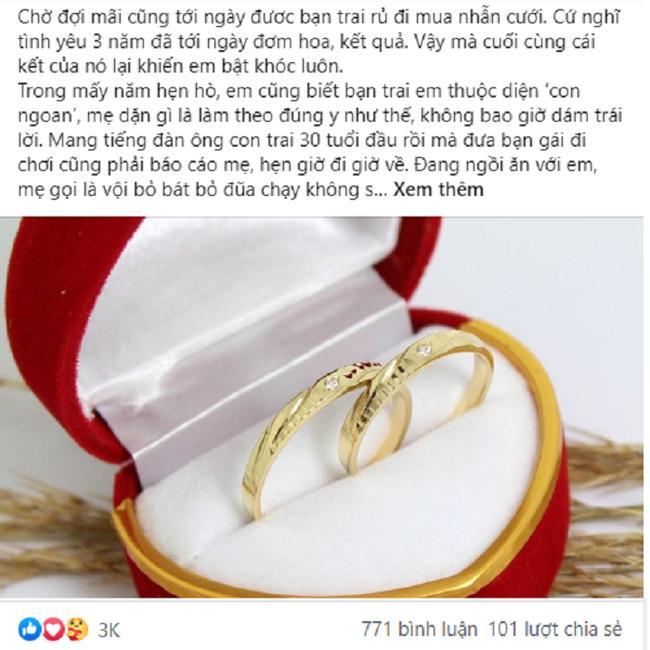 Đi chọn nhẫn cưới, chồng tương lai tuyên bố: Anh chỉ chiều em nốt lần này và phản ứng cứng không tin nổi của cô bạn gái-1