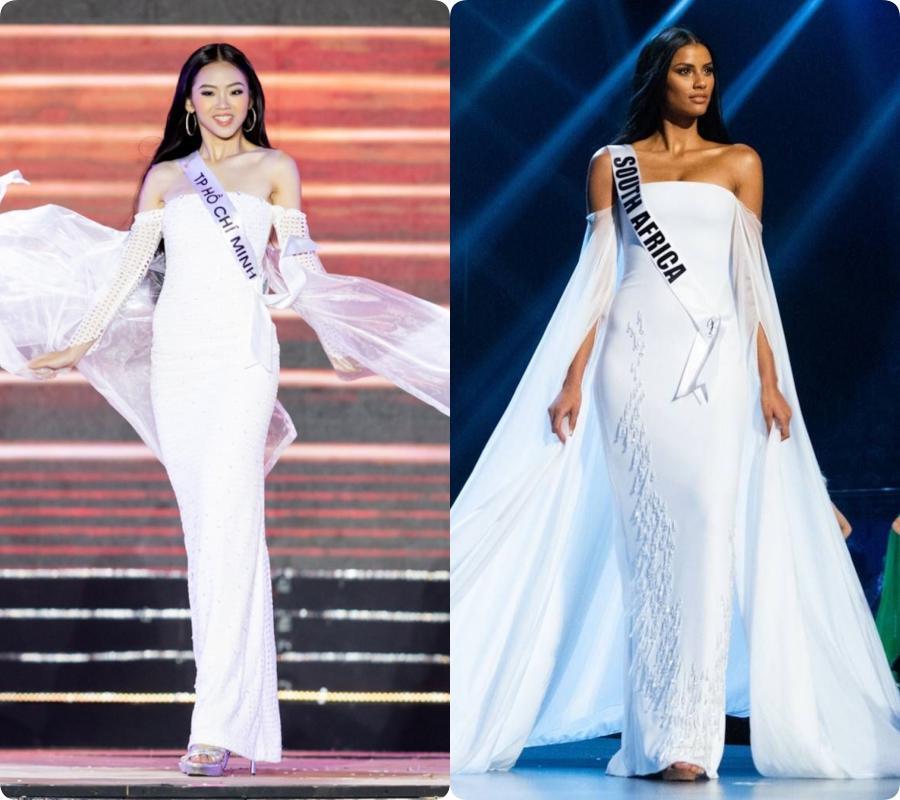 Thêm một pha nghi án váy nhái tại cuộc thi Hoa hậu: Bộ đầm mà Ngân Anh, Hương Giang từng mặc cũng bị đào mộ ngay lập tức-3