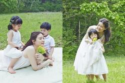 Lee Young Ae chia sẻ ảnh con thời nhỏ