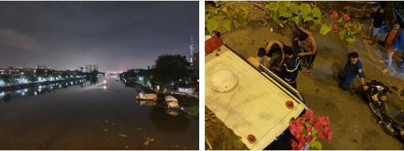 2 vợ chồng nhảy sông Sài Gòn tự tử, người dân chen chân đứng theo dõi, quay phim-2