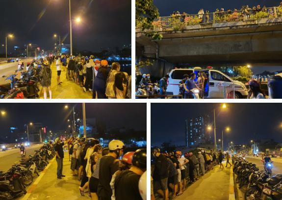 2 vợ chồng nhảy sông Sài Gòn tự tử, người dân chen chân đứng theo dõi, quay phim-3