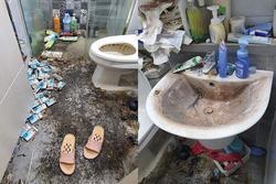 Căn phòng ngập ngụa băng vệ sinh đã qua sử dụng của gái trẻ khiến ai cũng khiếp sợ