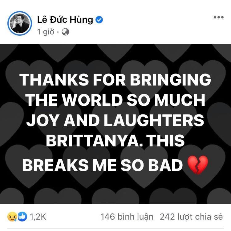 Chia sẻ cuối cùng của Youtuber đình đám gốc Việt Brittanya Karma trước khi qua đời vì Covid-19-1