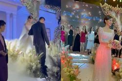 Đám cưới Á hậu Tường San: Chú rể không lộ diện, màn tung hoa gây bất ngờ