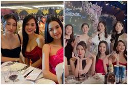 Tiểu Vy, Mỹ Linh mặc gợi cảm trong lễ cưới Tường San